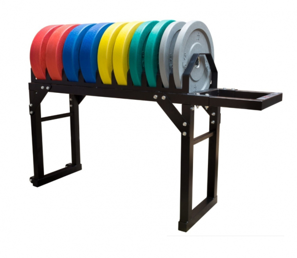 STRENGTHSHOP Stojan na kotouče Bumper Plate Toast rack Platform - pohled