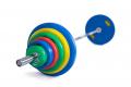 Olympijská činka 135 kg pogumovaná 05g