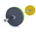 Olympijská činka TRINFIT 80 kg Bumper CrossGym