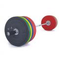 Olympijská činka TRINFIT 220 kg Bumper CrossGym