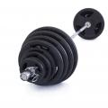 Olympijská činka TRINFIT 180 kg pogumovaná